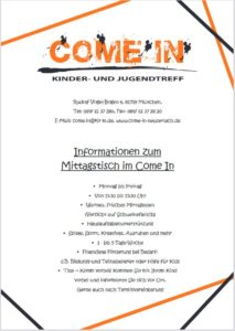 Read more about the article Mittagstisch im Come In
